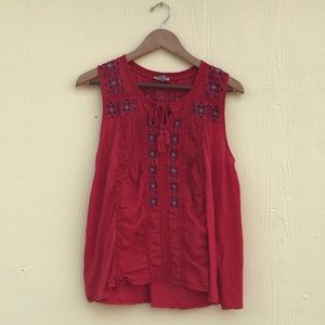 Lucky Brand Tunic in Red Size L
